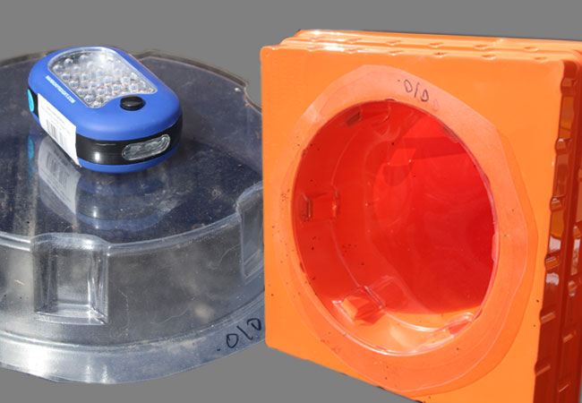 LED lighting options for The Original Folding Cone - the patented translucent safety cone.