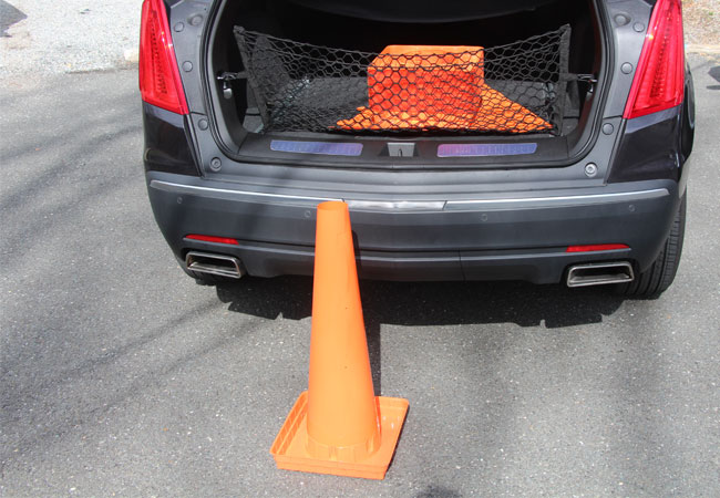 The Original Folding Cone by Versatile Cones. 25 cones shown here stacked and laying flat.