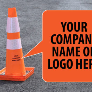 Put your logo and branding on The Original Folding Cone from Versatile Cones!